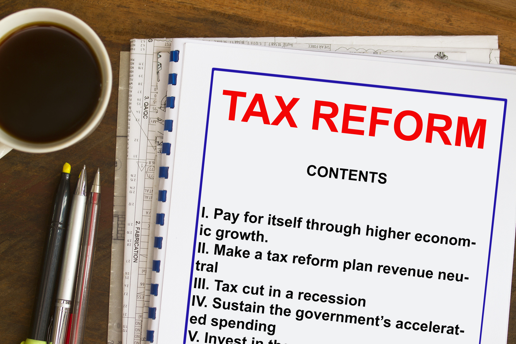 One Step Closer to Tax Reform